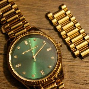 Michael Kors Women's Watch (Gold w/ Forest Green)
